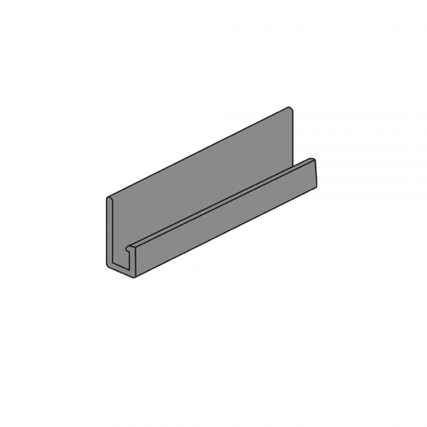 J-профиль Гладкий кирпич, 3050 мм - Металлический