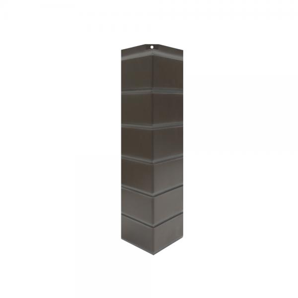 Угол наружный «Гладкий кирпич», 119х463 мм - Коричневый