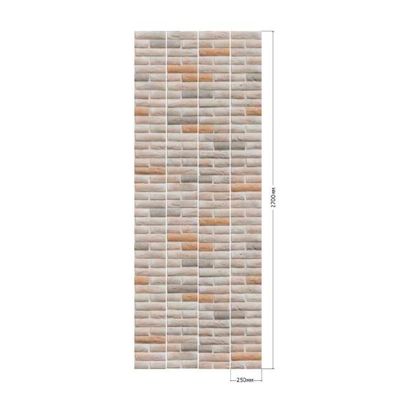 ПАНЕЛЬ ПВХ UNIQUE (2700*250) КИРПИЧ БЕЖЕВЫЙ (4 ПАН/УЗОР)