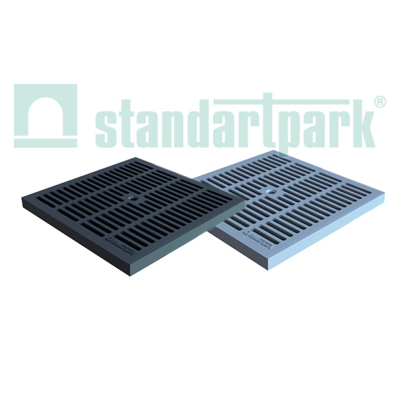 Решетка водоприемная PolyMax Basic РВ-28.28-ПП пластиковая ячеистая кл.А 3380-Ч